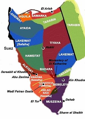 beduin-terkep